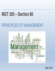 Chapter 1 Introduction to principles of management
