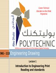 1-Introduction to Engineering Print and Reading and standards.pptx