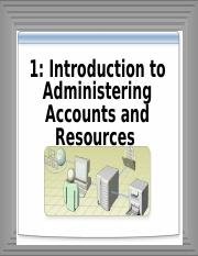 1-Introducing Adminstrator Account and resources