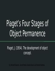 Piaget's Four Stages of Object Permanence.pptx