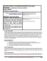 BUS9551 Syllabus Fall 2 2016 Fri