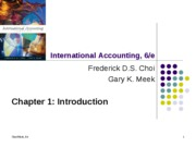 international accounting chapter 01 powerpoint