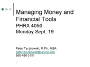 management and financial tools