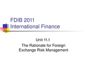 Unit 8.2 The Rationale for Foreign%20Exchange%20Risk%20Management