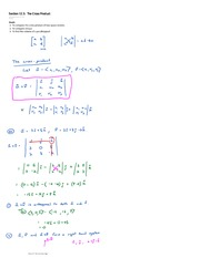 Section 12.5  The Cross Product