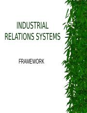 INDUSTRIAL RELATIONS SYSTEMS FRAMEWORK.ppt