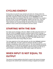 Cycling Energy