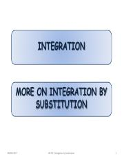 CH3A(3) Integration by substitution