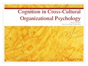 cognition in c-c org psyc