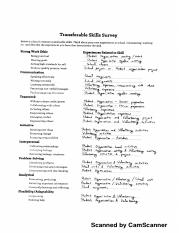 Transferable Skills Survey