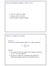 Areas and double integrals