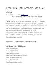 CardableSitesList2019 rtf - Free Info List Cardable Sites