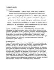 the birthmark essay outline Nathaniel hawthorne the birthmark analysis essays 10 oct nathaniel hawthorne the birthmark analysis essay unit 1 argumentative essay outline on.