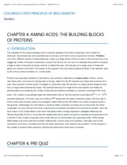 Chapter 4Amino Acids The Building Blocks of Proteins