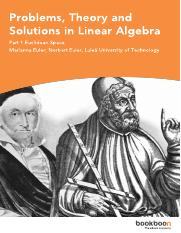Problems, Theory and Solutions in Linear Algebra.pdf
