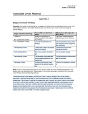 critical thinking worksheet appendix i
