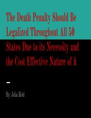Death Penalty Presentation