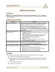 6-SBAR Quick Review teamsteppes.pdf