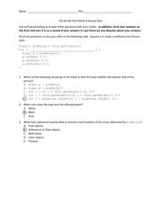 CSE 8A fall 2014 Week 4 Review Quiz Answers
