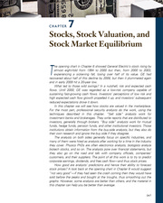 CHAPTER 7 Stocks, Stock Valuation, and Stock Market Equilibrium