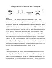 Electrophilic Aromatic Substitution and Column Chromatography.docx