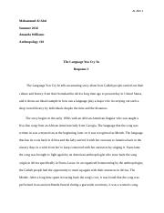 The Language You Cry In _ Response Paper