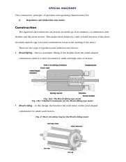 CONSTRUCTION AND OPERATION OF AN ELECTRICAL SPECIAL MACHINE.docx