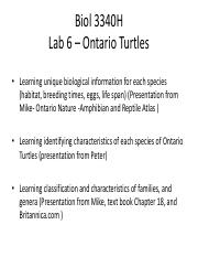 2016 Lab 6 - Ontario Turtle Species
