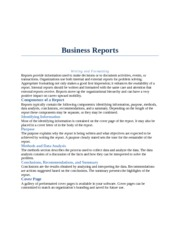 Word Bootcamp homework business reports part 2