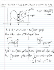 Math 1710  C of M Notes