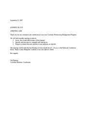 as-Customer Relations Letter