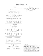 Exam 1 Equations F13