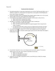 Rotational Motion WS