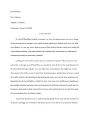 English- LOF Essay