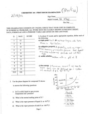 Chem 164 Spring 2012 First HourSolutions Practice Exam