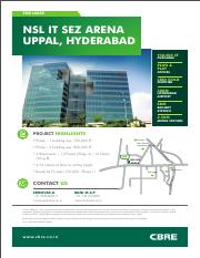 NSL_IT_SEZ_Arena - FOR LEASE NSL IT SEZ ARENA UPPAL HYDERABAD