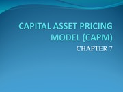 Chapter 7-CAPM