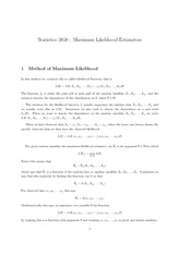 Ch8-4 Maximum Likelihood Estimators
