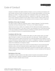 Chipotle Code of Conduct - English - Revised April 2012