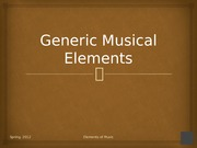 Lecture 1 note, Generic musical elements