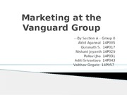 Marketing at the Vanguard Group