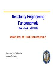 Lecture Module 6-Reliabibility Models-Part 2.ppt