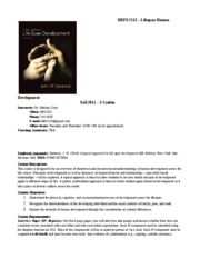 HDFS 2113 Syllabus Fall 2011 072911