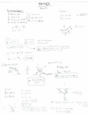 PH 101 EXAM 1 equations