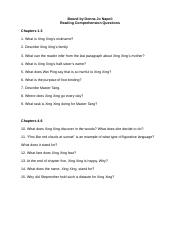 Reading Comprehension Questions-Bound by Donna Jo Napoli