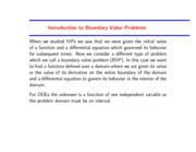 Study Guide on Boundary Value Problems