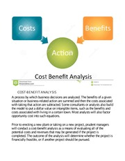 Cost Benefit Action