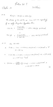 Chemistry - The Central Science PS7 Answers