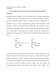The Kinetics of a Crystal Violet-Hydroxide Ion Reaction.docx