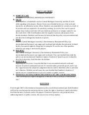 BLR 222 case brief DAMBROT v CMU.docx